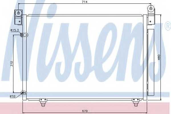 Конденсатор кондиционера NISSENS 94933 - изображение