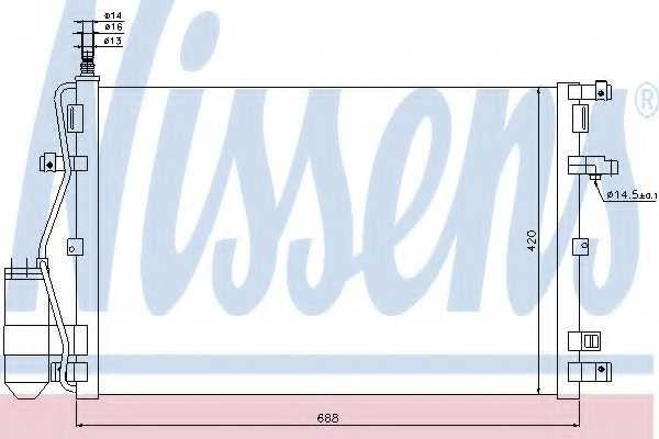 Конденсатор кондиционера NISSENS 94937 - изображение