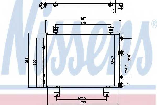 Конденсатор кондиционера NISSENS 94950 - изображение