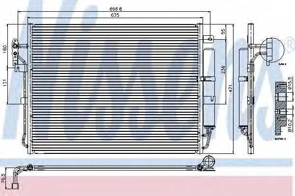 Конденсатор кондиционера NISSENS 94962 - изображение