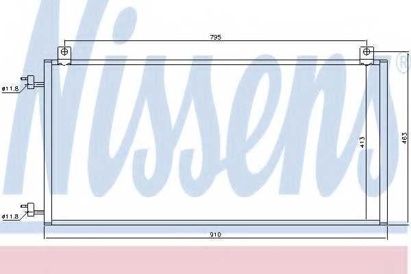 Конденсатор кондиционера NISSENS 94967 - изображение