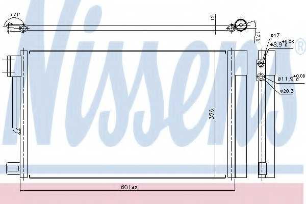 Конденсатор кондиционера NISSENS 94973 - изображение