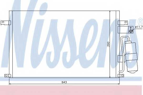 Конденсатор кондиционера NISSENS 94978 - изображение