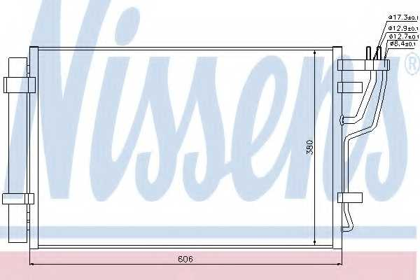 Конденсатор кондиционера NISSENS 94981 - изображение