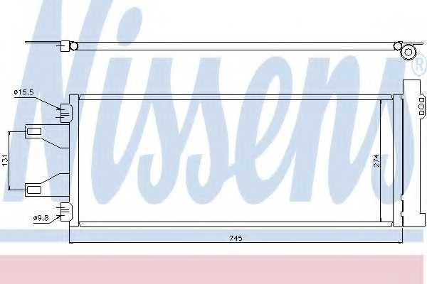 Конденсатор кондиционера NISSENS 94986 - изображение