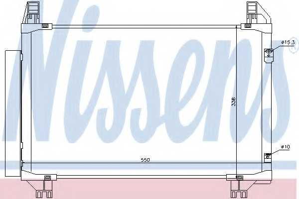 Конденсатор кондиционера NISSENS 94991 - изображение