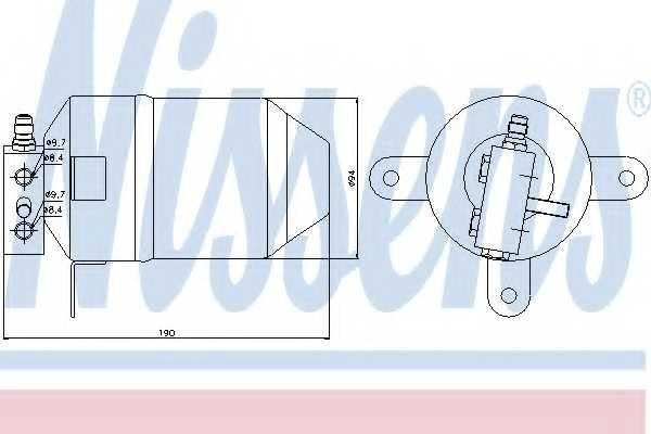 Осушитель кондиционера NISSENS 95006 - изображение