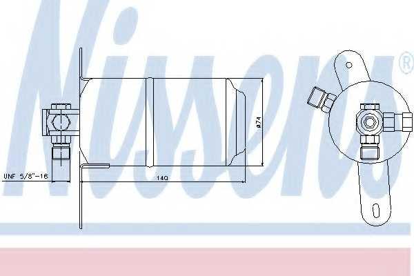 Осушитель кондиционера NISSENS 95025 - изображение