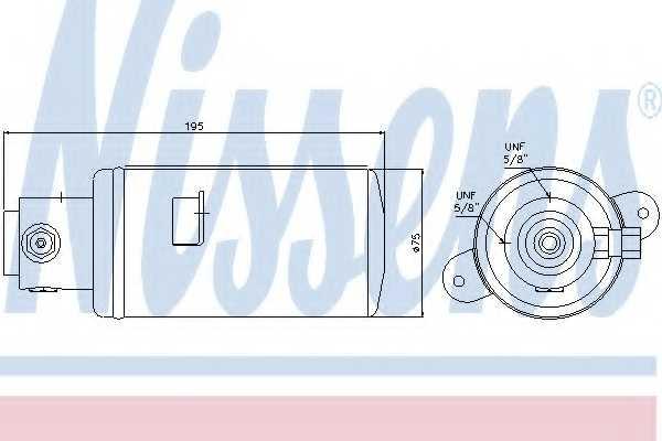 Осушитель кондиционера NISSENS 95076 - изображение