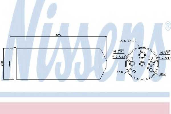 Осушитель кондиционера NISSENS 95134 - изображение