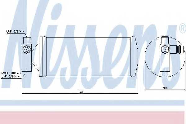 Осушитель кондиционера NISSENS 95257 - изображение