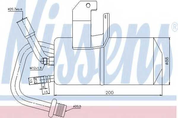 Осушитель кондиционера NISSENS 95317 - изображение