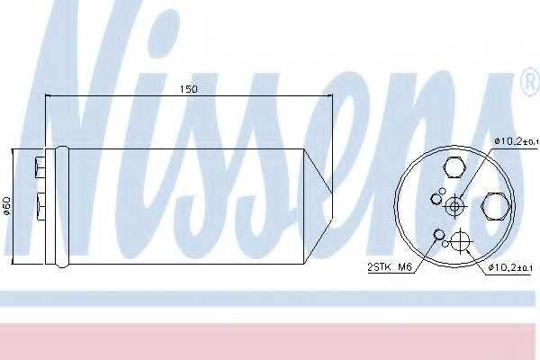 Осушитель кондиционера NISSENS 95325 - изображение