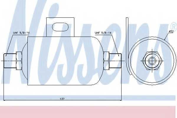 Осушитель кондиционера NISSENS 95343 - изображение