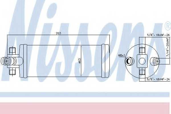 Осушитель кондиционера NISSENS 95344 - изображение