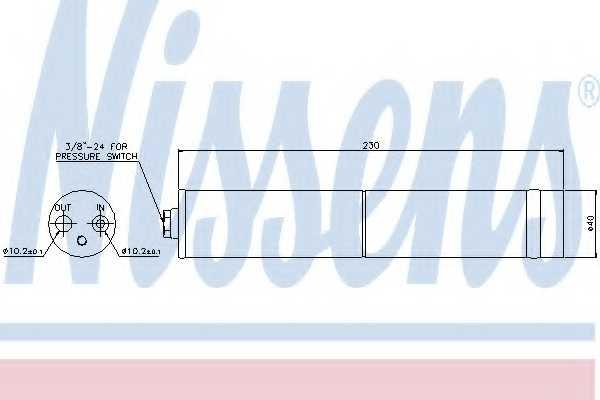 Осушитель кондиционера NISSENS 95383 - изображение