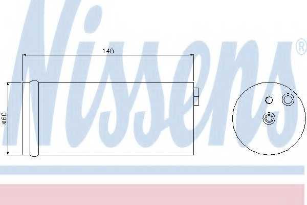 Осушитель кондиционера NISSENS 95405 - изображение