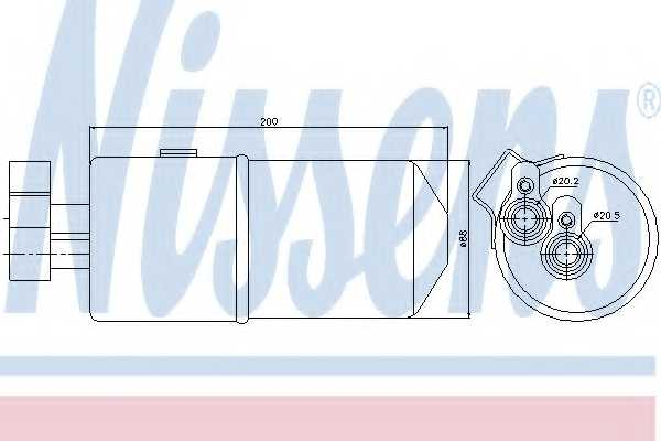Осушитель кондиционера NISSENS 95436 - изображение