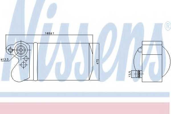 Осушитель кондиционера NISSENS 95517 - изображение