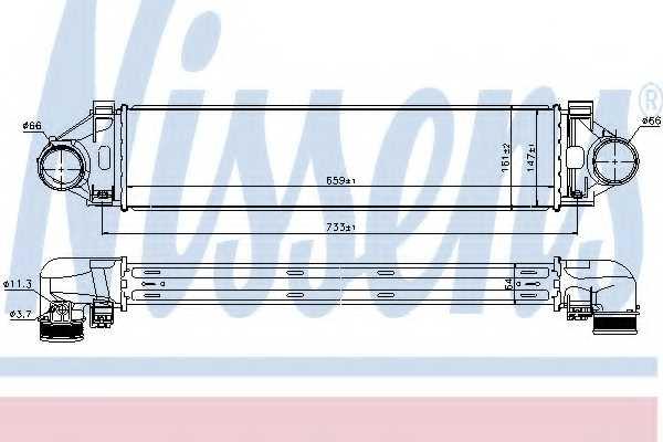Интеркулер NISSENS 96471 - изображение