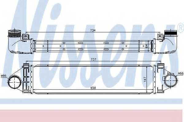 Интеркулер NISSENS 96472 - изображение