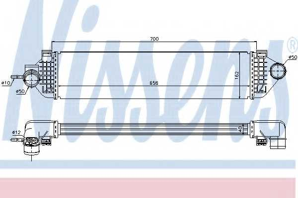 Интеркулер NISSENS 96492 - изображение