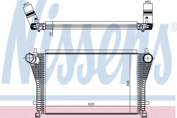 Интеркулер NISSENS 96494 - изображение