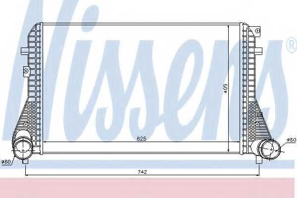 Интеркулер NISSENS 96542 - изображение