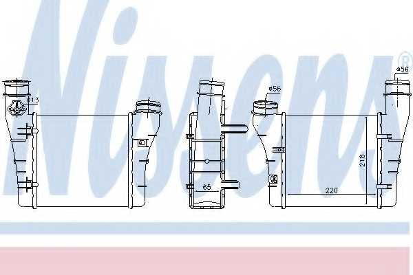 Интеркулер NISSENS 96549 - изображение