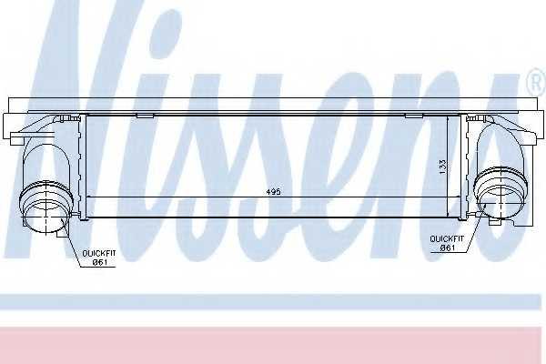 Интеркулер NISSENS 96552 - изображение