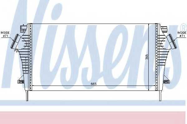 Интеркулер NISSENS 96554 - изображение
