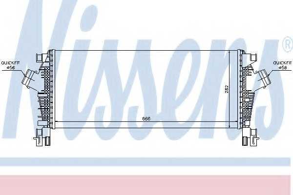 Интеркулер NISSENS 96555 - изображение