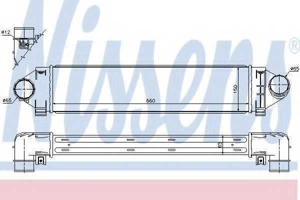 Интеркулер NISSENS 96561 - изображение