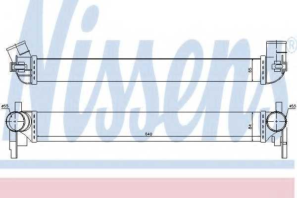 Интеркулер NISSENS 96566 - изображение