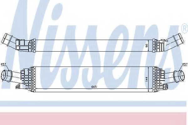 Интеркулер NISSENS 96567 - изображение