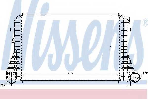 Интеркулер NISSENS 96568 - изображение