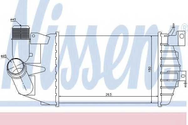 Интеркулер NISSENS 96587 - изображение