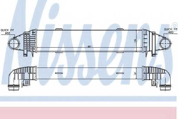 Интеркулер NISSENS 96598 - изображение
