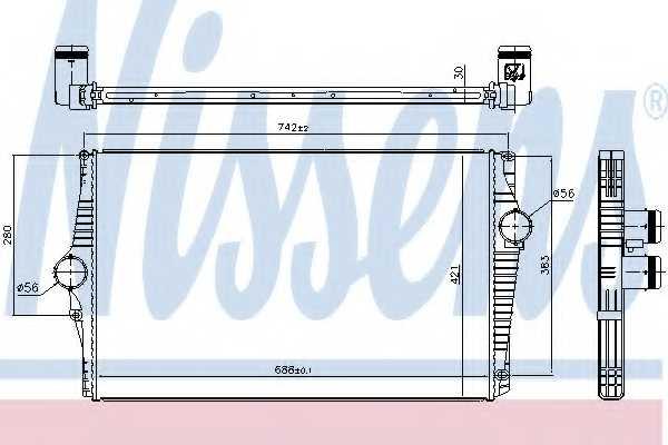 Интеркулер NISSENS 96601 - изображение