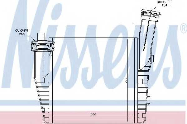 Интеркулер NISSENS 96611 - изображение