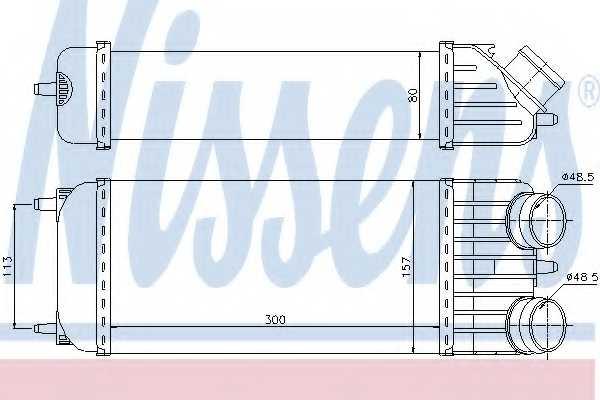 Интеркулер NISSENS 96612 - изображение