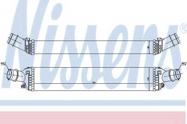 Интеркулер NISSENS 96618 - изображение