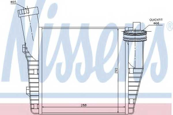 Интеркулер NISSENS 96688 - изображение