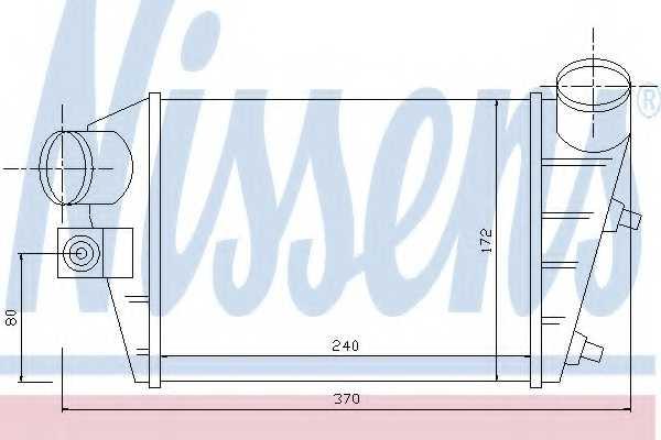 Интеркулер NISSENS 96698 - изображение