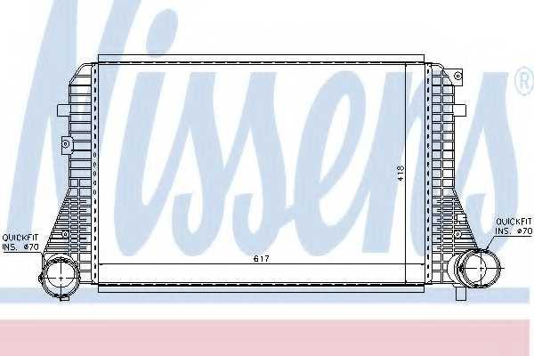 Интеркулер NISSENS 96715 - изображение