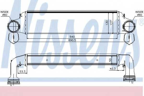 Интеркулер NISSENS 96723 - изображение