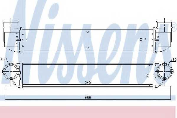 Интеркулер NISSENS 96726 - изображение