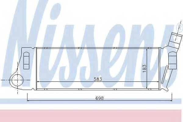 Интеркулер NISSENS 96728 - изображение