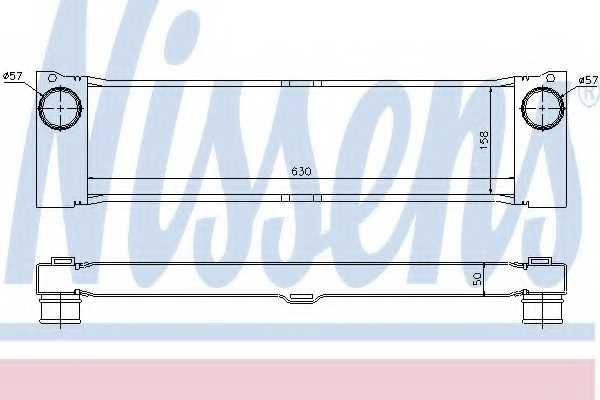Интеркулер NISSENS 96729 - изображение