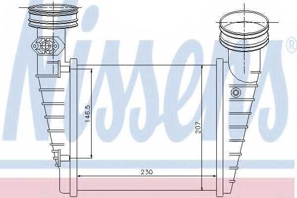 Интеркулер NISSENS 96731 - изображение